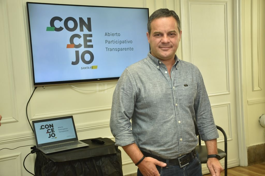 Leandro González, presidente del Concejo Municipal. Crédito: Flavio Raina
