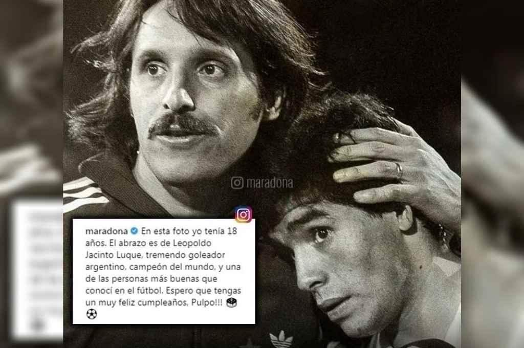 Maradona por Luque. El