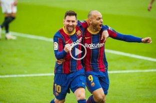 Un gol y una asistencia de Messi para el triunfo del Barcelona