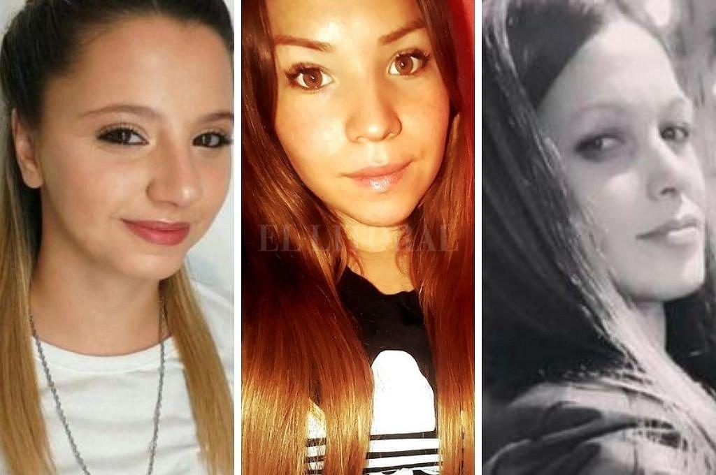 Úrsula Bahillo, Guadalupe Cural e Ivana Módica, tres víctimas de femicidio. Crédito: Captura digital