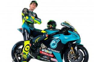Valentino Rossi presentó su moto para el próximo mundial