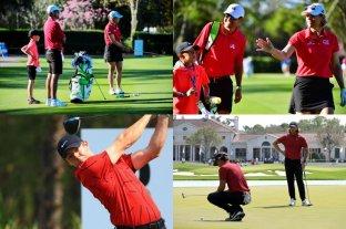 Golfistas se vistieron de rojo en homenaje a Tiger Woods, quien se recupera de un accidente