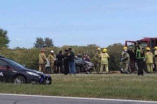Accidente vial en la autopista Santa Fe Rosario
