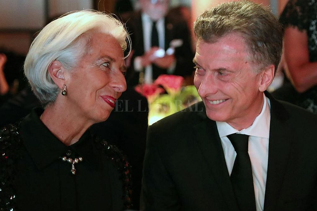 La ex titular del FMI, Christine Lagarde, y el exPresidente argentino Mauricio Macri. Crédito: Archivo El Litoral