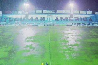Suspenden por lluvia el partido entre Atlético Tucumán y Huracán cuando empataban 1 a 1