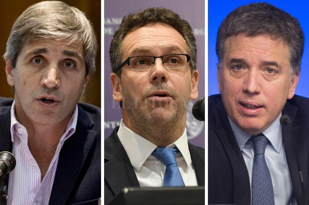 Luis Caputo, Guido Sandleris y Nicolás Dujovne. Crédito: El Litoral
