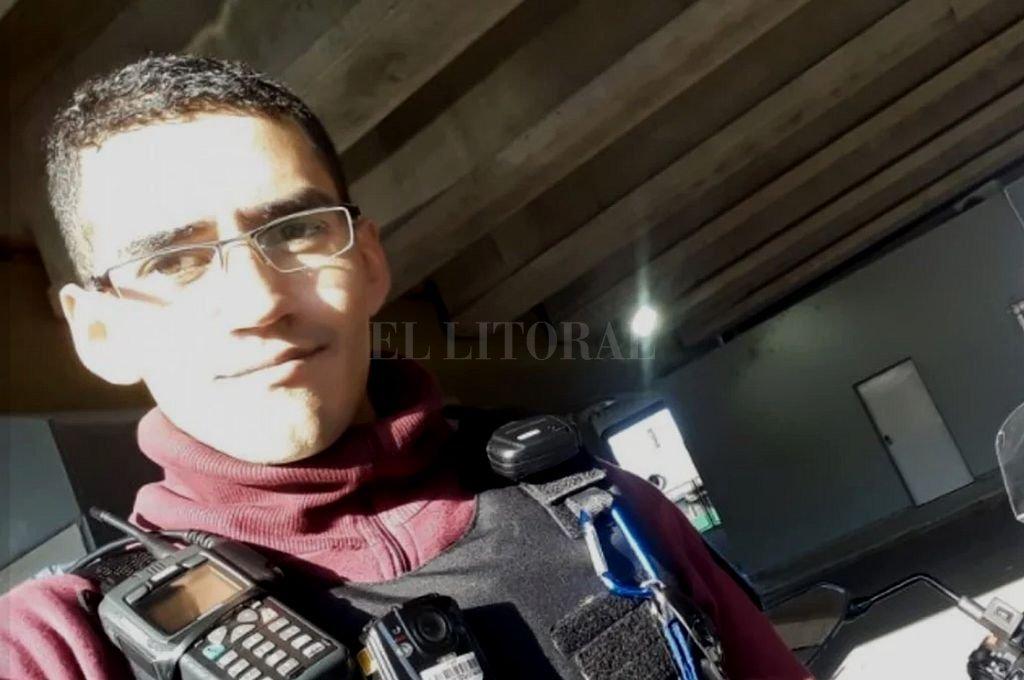 Germán Baigorria, el policía detenido por el crimen de Sol Acuña Bilbao. Crédito: Captura digital