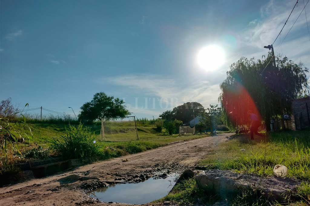 El caso ocurrió en barrio La Cruzada, un humilde sector de la zona noroeste de Santo Tomé. Crédito: Danilo Chiapello