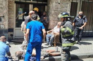 Un lesionado tras un derrumbe en Rosario