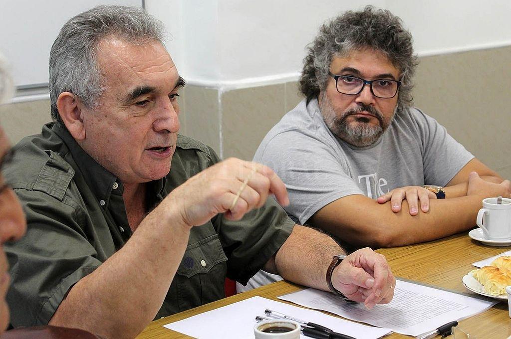 Los titulares Fempinra, Juan Carlos Schmid, y Ftciodyara, Daniel Yofra. Crédito: @FTCIODyARA