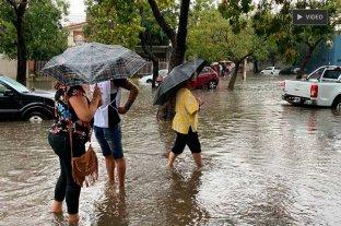 Lluvia y complicaciones en la ciudad de Santa Fe -