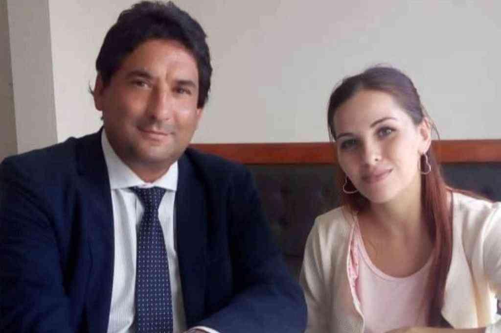 Carlos Clemente, titular del F.I.D.R. y Antonella Gaetani del Frente Productivo. Crédito: Gentileza