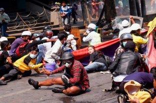 La jornada de protesta contra los golpistas en Myanmar terminó con 38 muertos