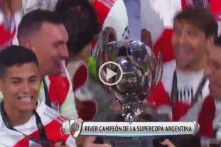 Video: la felicidad de Alex Vigo al consagrarse campeón con River