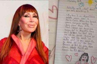 Una niña canadiense escribió una carta sobre Moria Casán y se hizo viral