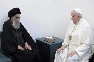 Francisco se reunió en Irak con el gran ayatollah Ali al-Sistani