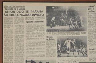 La única forma de ganarle a Unión era con la camiseta de Real Madrid - Así cubrió El Litoral aquél encuentro que se jugó en el estadio de Patronato y que rompió la racha de 24 partidos sin perder que Unión traía desde el Metro de ese 1978 inolvidable para el Tate