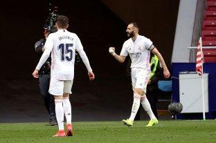 Con un gol en el final, Real Madrid rescató un empate ante Atlético Madrid