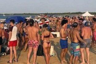 Corrientes: continúan las fiestas clandestinas en el banco de arena