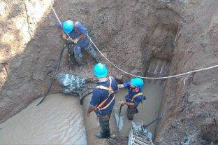 Falta agua en los barrios del norte de la ciudad por una reparación de Aguas Santafesinas