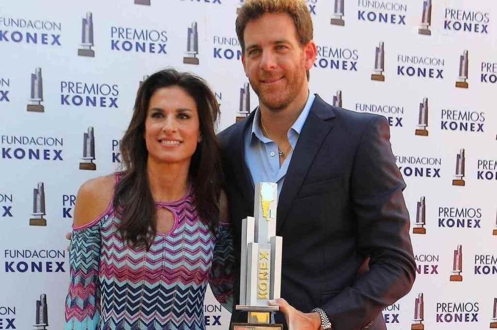 Sabatini y Del Potro, en la entrega de los premios Konex.    Crédito: Gentileza