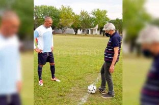 Baucero participó de la jornada inaugural de la Liga de la Amistad 2021