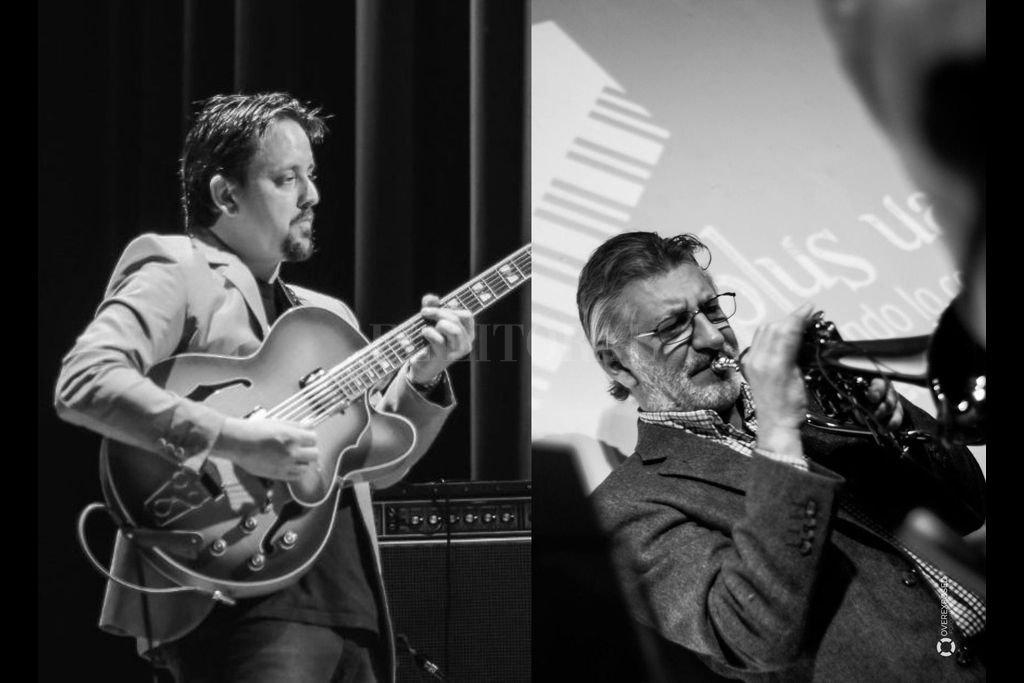 Pedro Casís y Fernando Gualini actuarán juntos para desandar una serie de standards de jazz y temas de música popular que en 2020 tan sólo pudieron alternar en la virtualidad. Crédito: Gentileza de los artistas