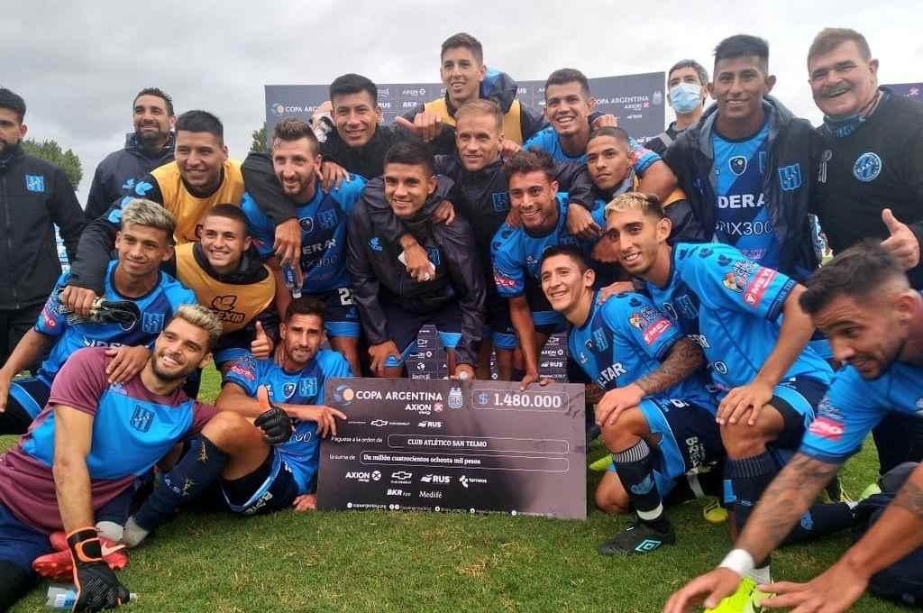 San Telmo llegó a los octavos de final de la Copa Argentina y sueña con seguir avanzando.    Crédito: Gentileza