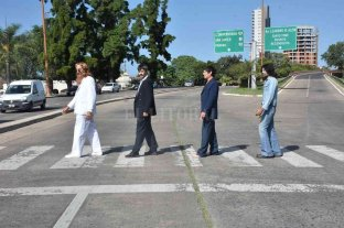 """The Beatles"" se sumaron en Santa Fe a una campaña por la prevención de accidentes"