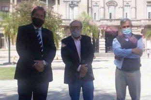 Carlos Clemente mantuvo un encuentro con Ricardo Olivera y el Padre Axel Arguinchona
