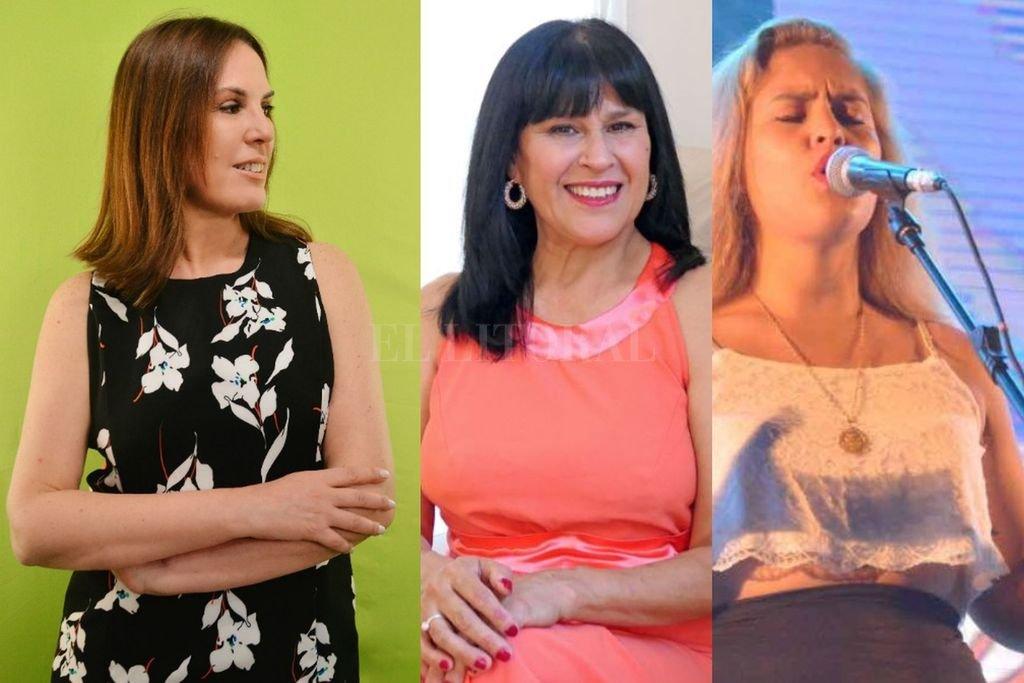 Lazcoz, Barrios y Deló, parte de la red de mujeres que pudo concretar este proyecto. Crédito: Gentileza Lazcoz Producciones