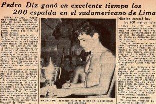 Hace 55 años Argentina batía récords en el sudamericano de natación