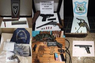 Personal policial secuestró diez armas de fuego