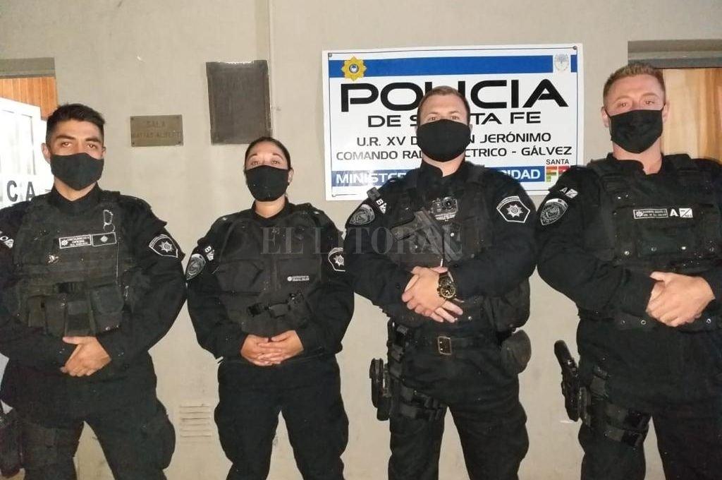 El personal involucrado en la heroica acción recibió las felicitaciones de parte de las autoridades de la UR XV Crédito: El Litoral