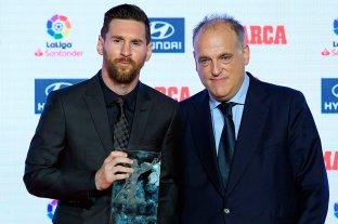 El presidente de La Liga quiere que Messi siga jugando en España