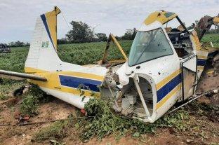 Ceres: un avión fumigador se precipitó y su piloto resultó con graves heridas