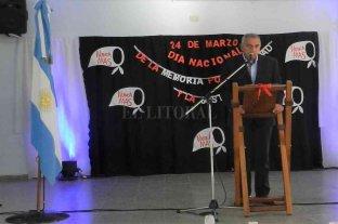 """Migno presidió el acto por el """"Día Nacional de la Memoria"""" en San Javier"""