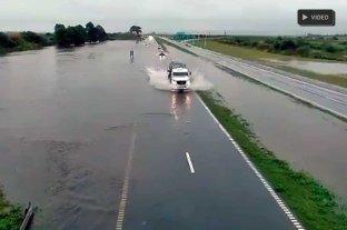 Video: rutas de Santa Fe complicadas por la lluvia