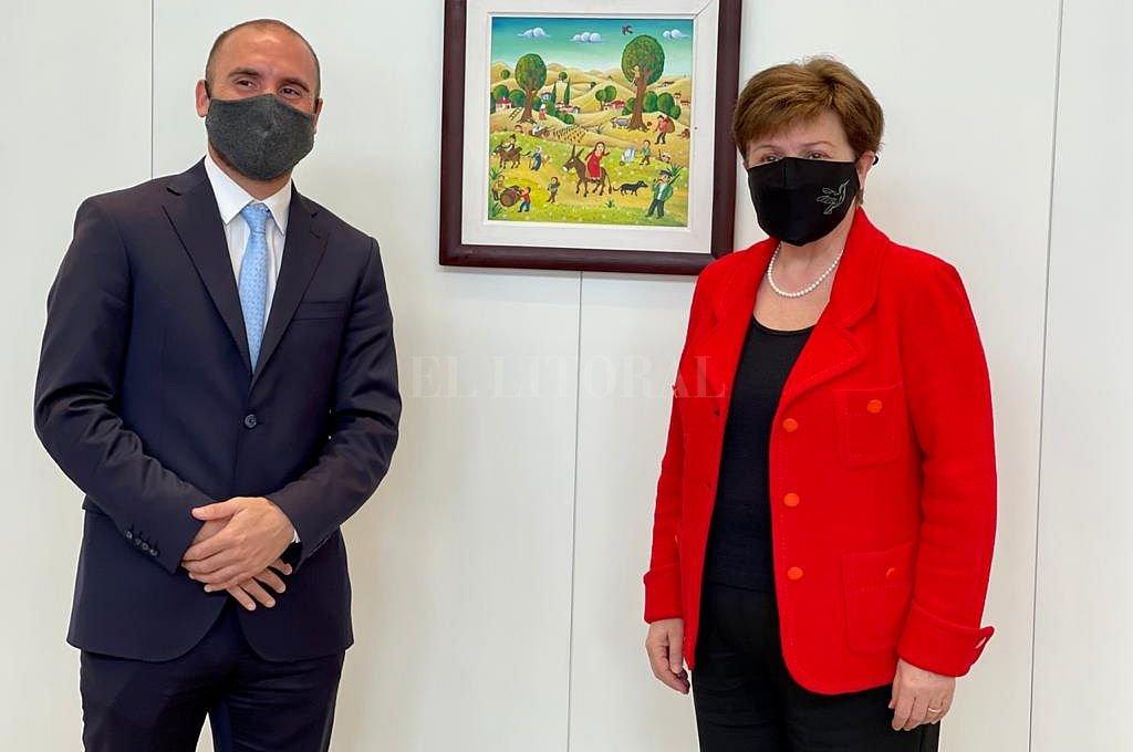 Martín Guzmán y Kristalina Georgieva. Crédito: Gentileza