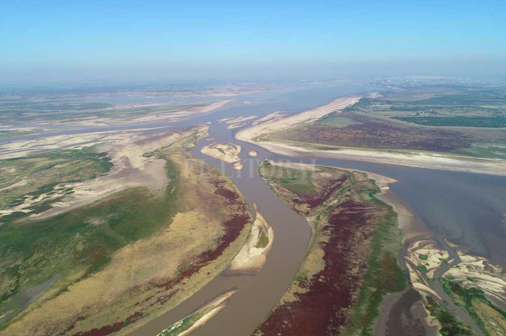 Delta. La formación deltaica donde nace la Setúbal, a la altura de El Chaquito, avanza con los años hacia el sur. Crédito: Fernando Nicola (Drone)
