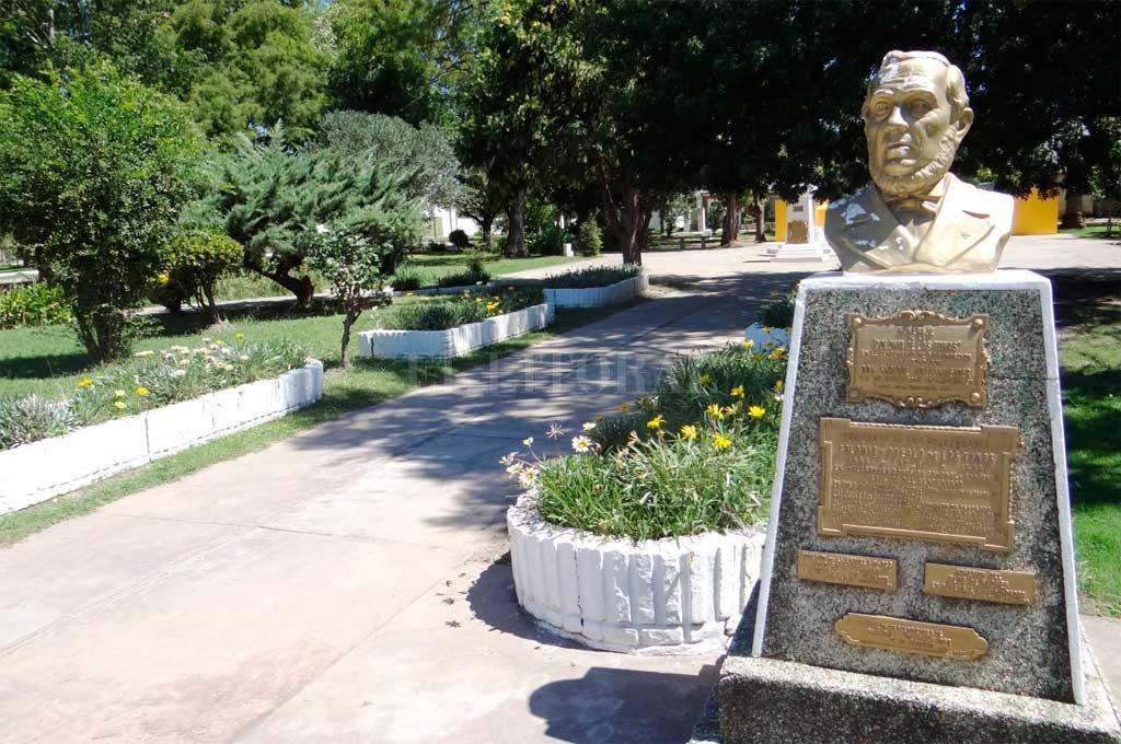 El busto que recuerda al empresario colonizador suizo en Las Tunas, pueblo que lo tuvo como fundador. Crédito: Archivo El Litoral