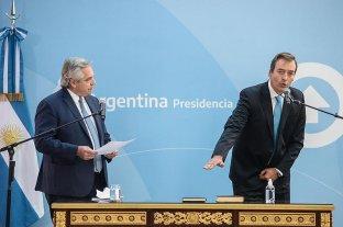 El Presidente le tomó juramento a Martín Soria