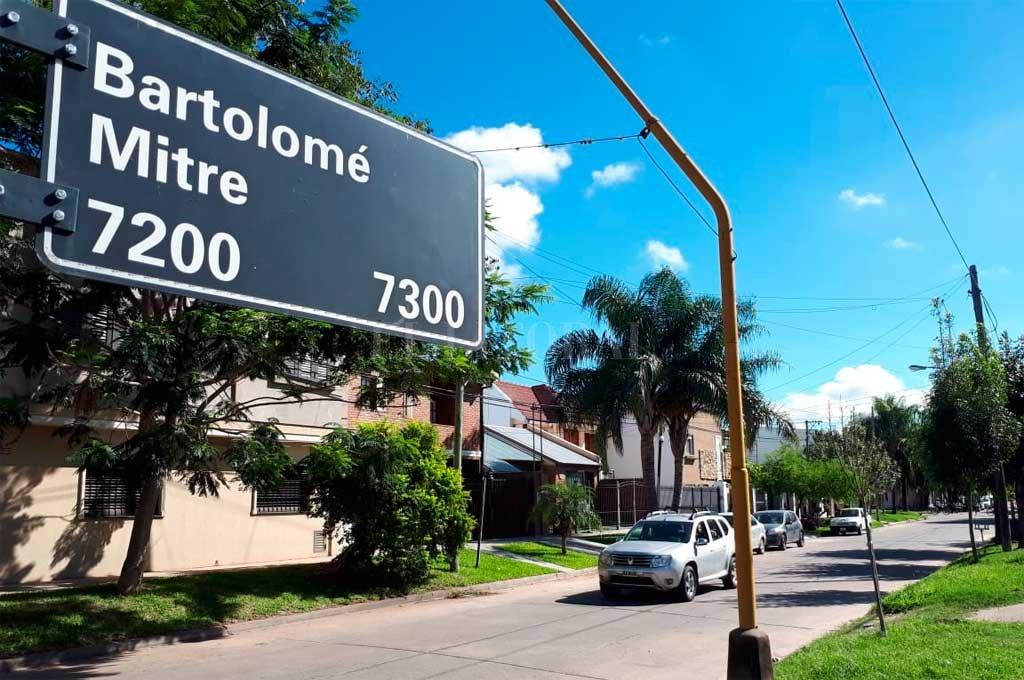 El hecho ocurrió en la cuadra de Mitre al 7200, jurisdicción de la seccional 8va. Crédito: Danilo Chiapello