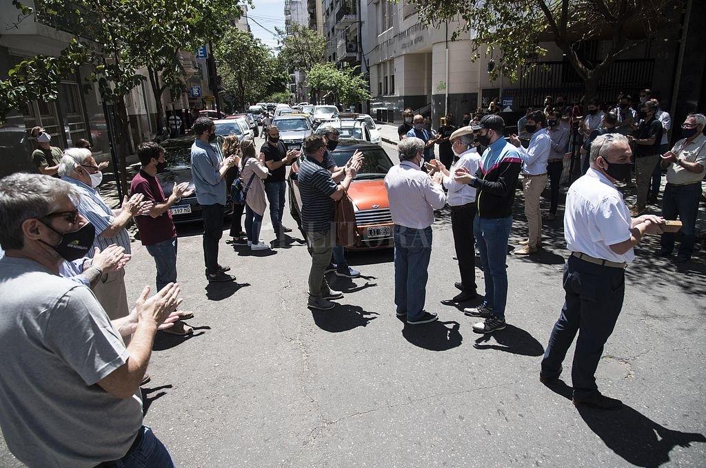 En noviembre pasado hubo una manifestación de acreedores. Crédito: Archivo El Litoral / Marcelo Manera