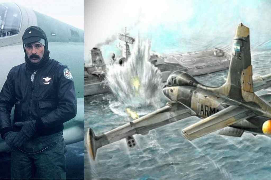 Detalle de una de las pinturas alusivas al momento del ataque a la Argonaut.    Crédito: Gentileza