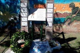 Se recordó a los héroes de Malvinas en la plaza Soldado Desza
