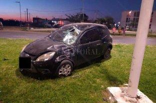 Choque múltiple en el acceso a la autopista Santa Fe - Rosario