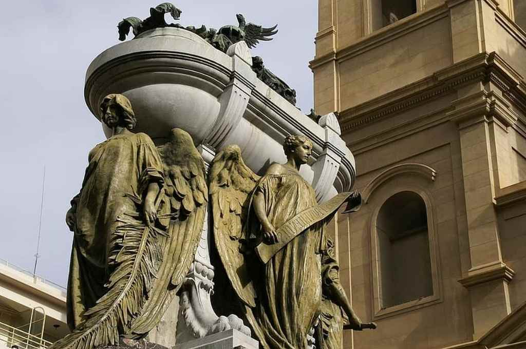 Mausoleo de Belgrano, en el convento de Santo Domingo, de Buenos Aires.    Crédito: Gentileza