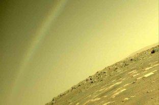 Un misterioso arcoíris fue captado en Marte por el róver Perseverance: la NASA explicó el fenómeno