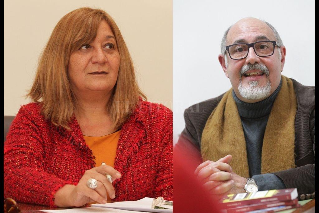 Claudia Montenegro y José Ignacio Serralunga, los dramaturgos ganadores del concurso que diagramó el Centro Cultural Provincial. Crédito: Archivo El Litoral